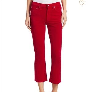 RE/DONE velvet cropped flares